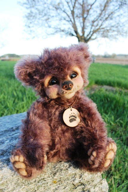 Needle Felted Brown Bear Luxembear