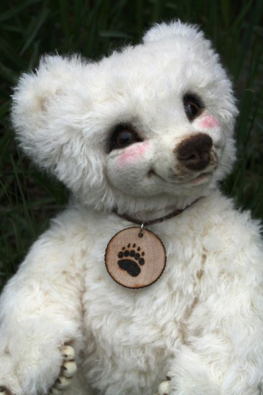 Needle Felted White Bear Luxembear