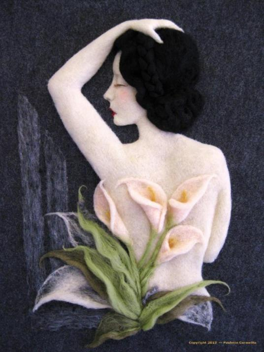 Lily Ann needle felted artwork wallhanging