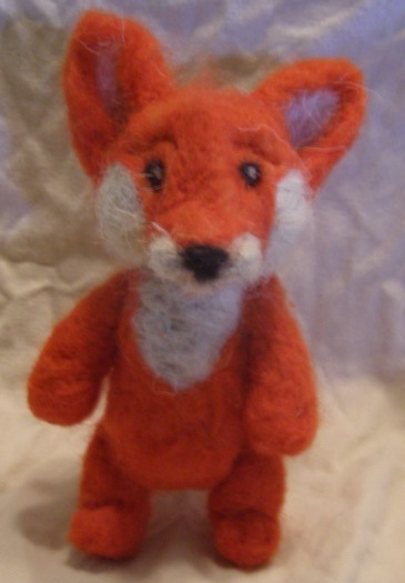 Needle Felted Orange Fox