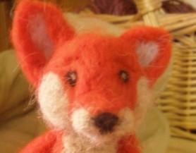 Needle Felted Orange Fox