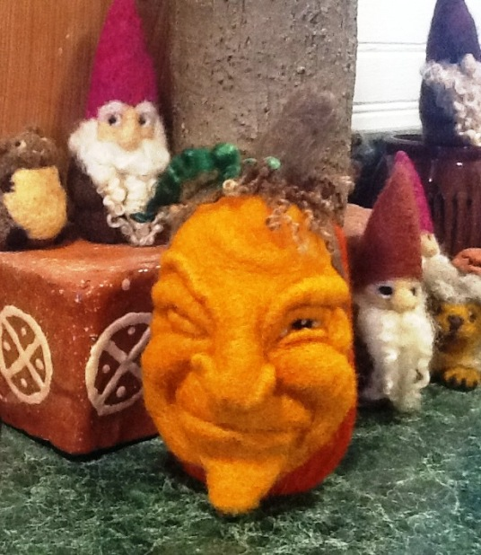 Needle Felted Pumpkins with Face