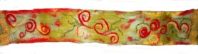 nuno felt scarf apple orchard