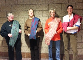 Wet Felted Scarf Class