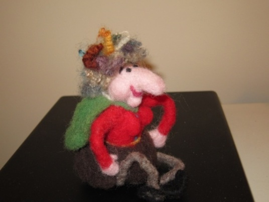 Needle Felted Kitchen Witch