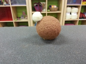 needle felting a turkey tutorial
