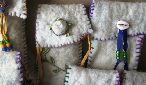 Repurposed Felted Quilt Pouches