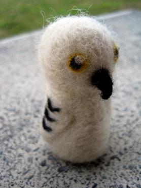 Needle Felted Hedwig Owl