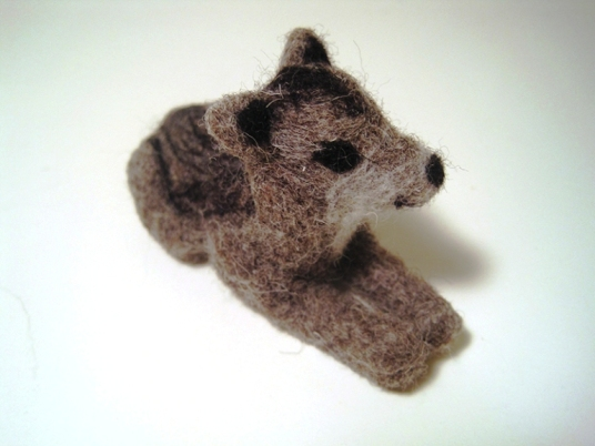 Needle Felted Gray Wolf