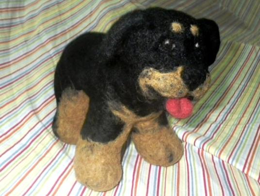 Needle Felted Dog Rottweiler Rotty
