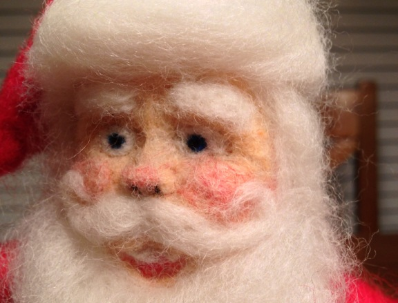Needle Felted Santa From Kit