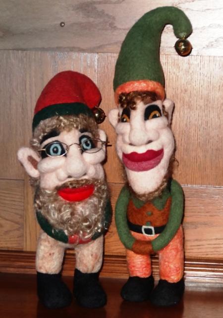 Needle felted christmas gnomes