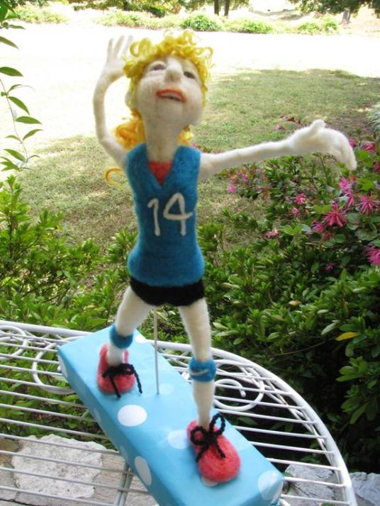 needle felted doll granddaughter
