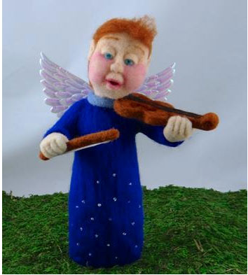 needle felted angel by Trish of iFelt That