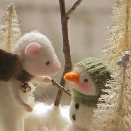 Amy Brand Sweet Pea Felts Needle Felted Mice