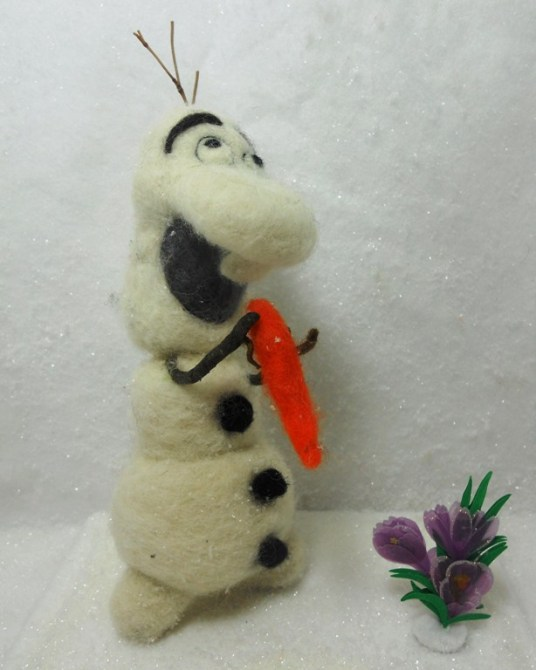 Needle Felted Olaf from Frozen