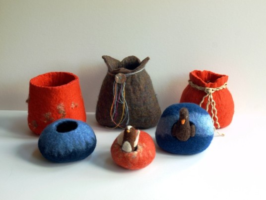 wet felted vessels