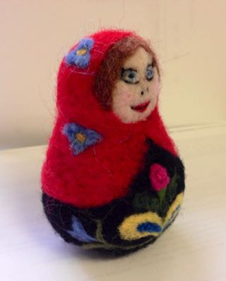 Needle Felted Matryoshka  Russian Nesting Doll