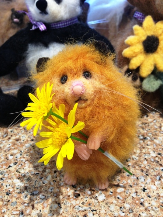 Needle Felted hamster bear