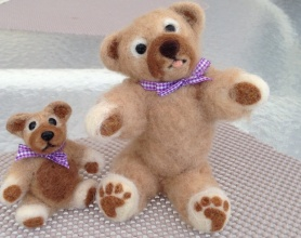Needle Felted teddy bears