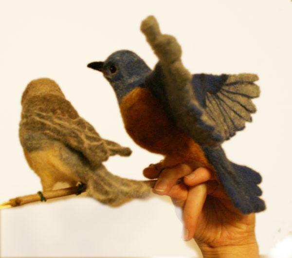 needle felted bird Erin Carlson