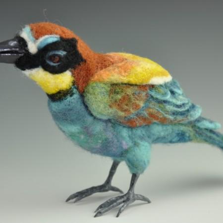 needle felted bird by Jennifer Field