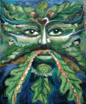 needle felted green man by Leanne Carpenter