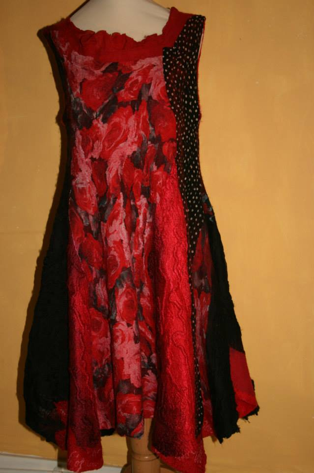 """Dress by Cristina Pacciani entitled """"We Are All Made of Stars"""", from the """"Im Perfect Collection"""" Cricri Felt"""