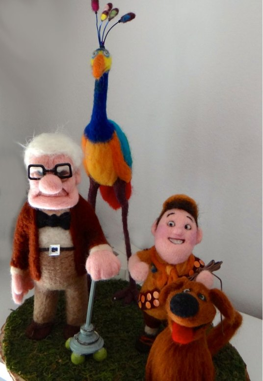 Needle Felted UP Characters by Trish Veilleux