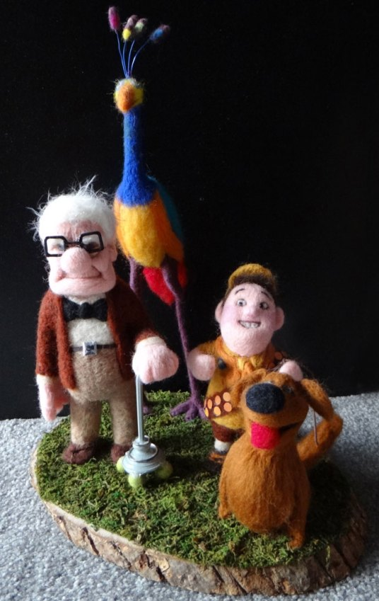 Needle Felted Fan Art UP Movie by Trish Veilleux