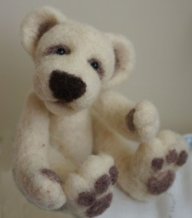 needle felting a bear kit