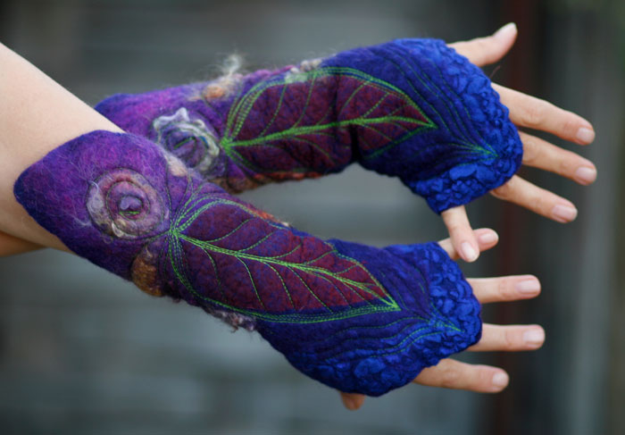 Felted hand warmers