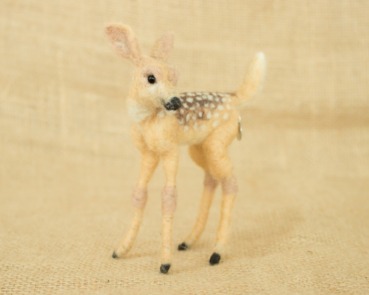 Needle Felted Fawn by Megan Nedds of The Woolen Wagon