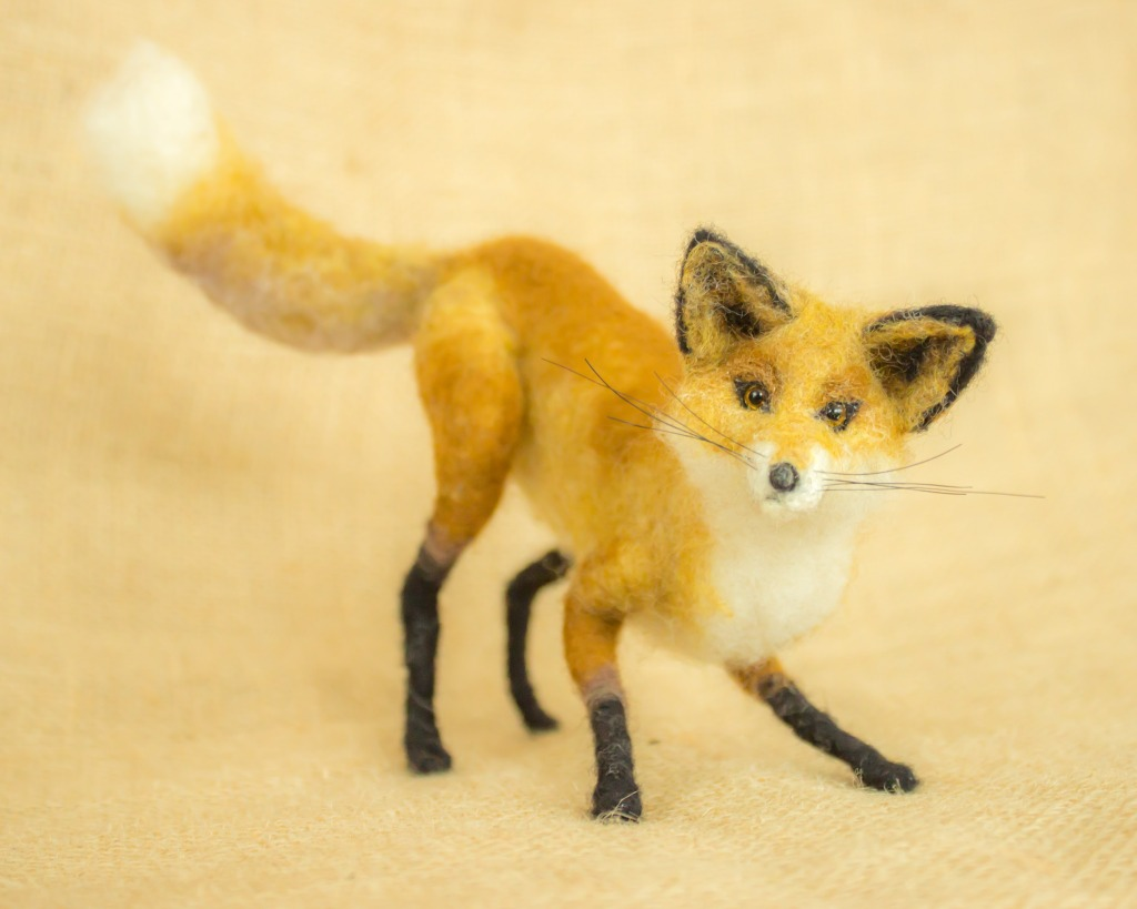 Needle Felted Fox by Megan Nedds