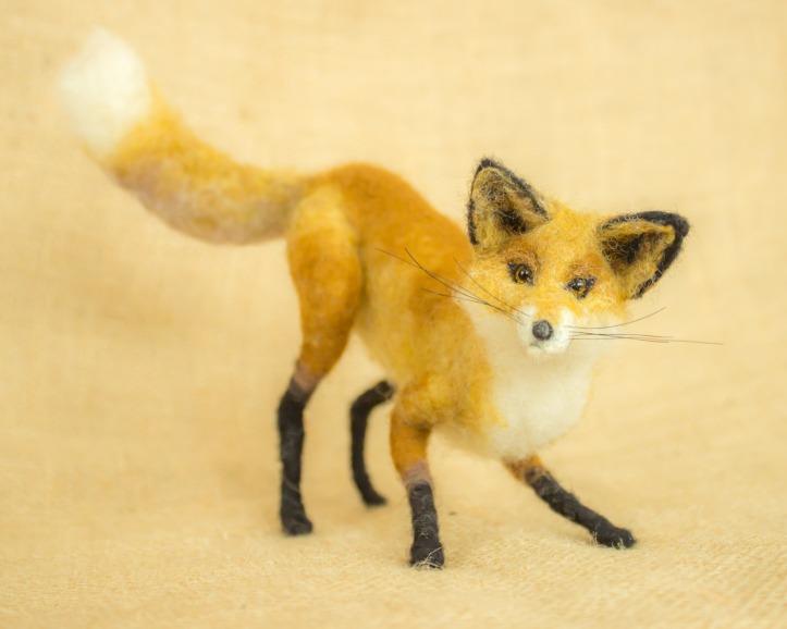 Needle Felted Fox by Megan Nedds