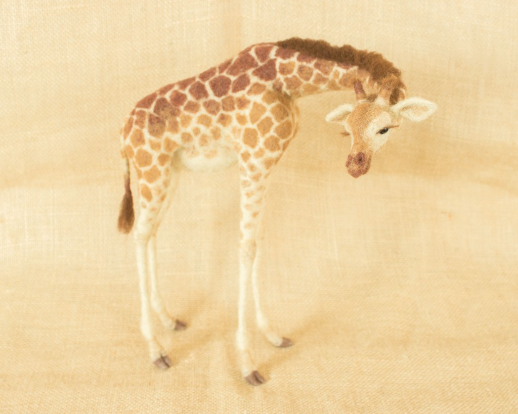 Needle Felted Giraffe by Megan Nedds