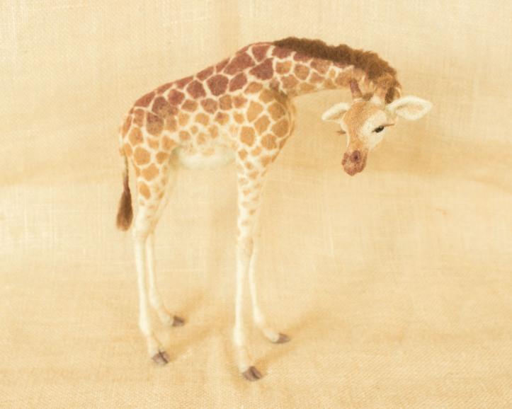 Needle Felted Giraffe by Megan Nedds