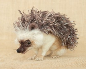 Needle felted hedgehog by Megan Nedds