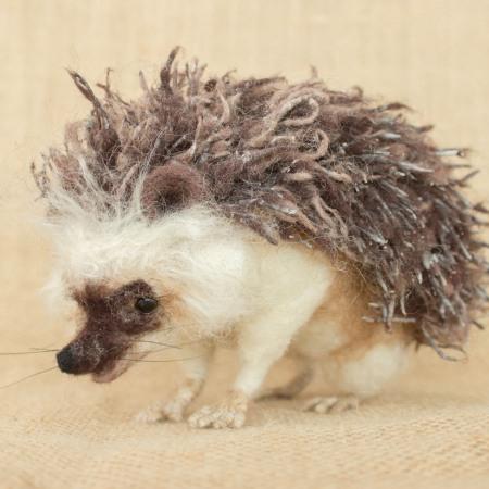 Needle felted hedgehog by Megan Nedds