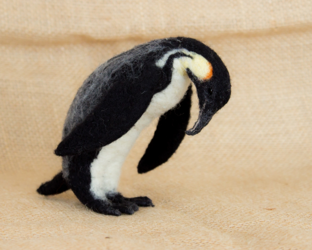 Needle Felted Emporer Penguin by Megan Nedds