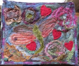 FELTED VALENTINE CARD
