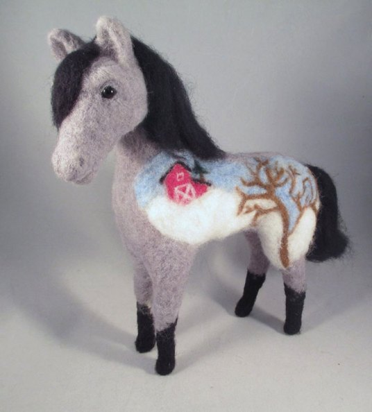 Needle Felted Art Horse Pony by Kenya Finley