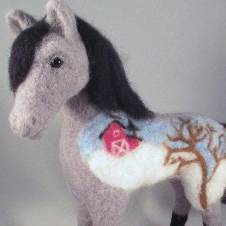 Needle Felted Horse Pony by Kenya Finley