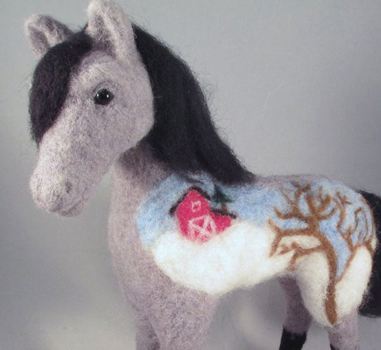Needle Felted Horse Pony by Kenya Finley