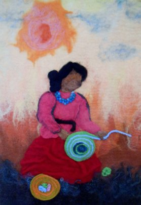 Felted Painting Women Series by Kristine Callahan