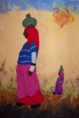 Felted Painting Women Series by Kristine Callahan Woman