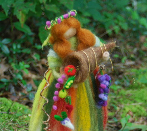 Needle Felted Waldorf Harvest Queen Fairy