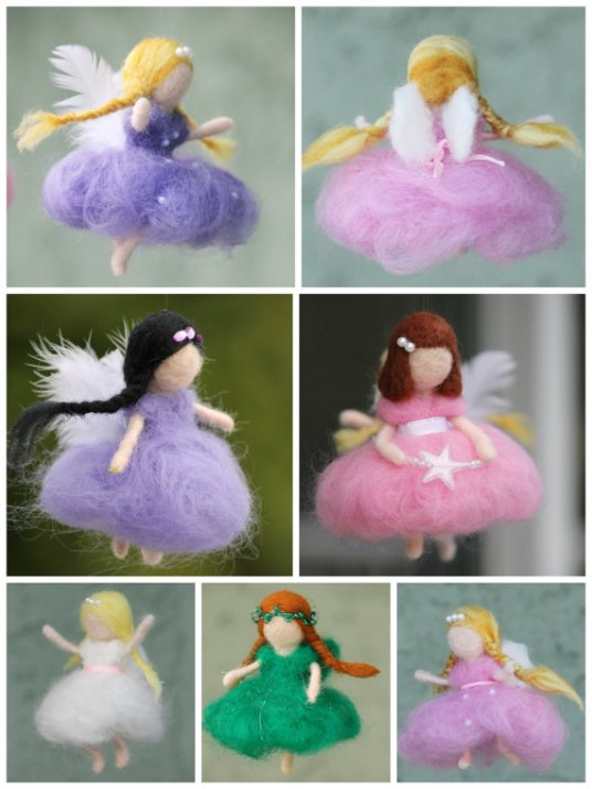 custom needle felted fairies in Waldorf style on etsy