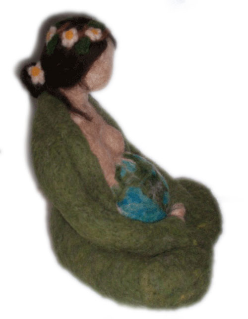 Needle Felted Mother Earth Goddess