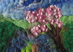 Felted ACEO by Sue Forey Fibre Art